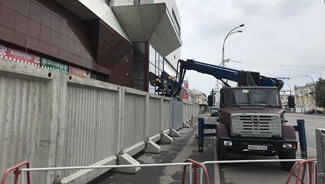 Демонтаж сгоревшего ТЦ Зимняя вишня в Кемерове. 14 июля 2018