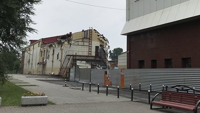 В Кемерово снесли здание ТЦ «Зимняя вишня»