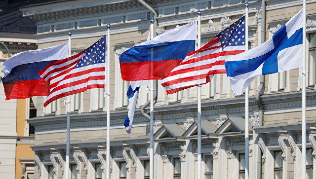 Президентский дворец в Хельсинки перед встречей Владимира Путина и Дональда Трампа. 16 июля 2018