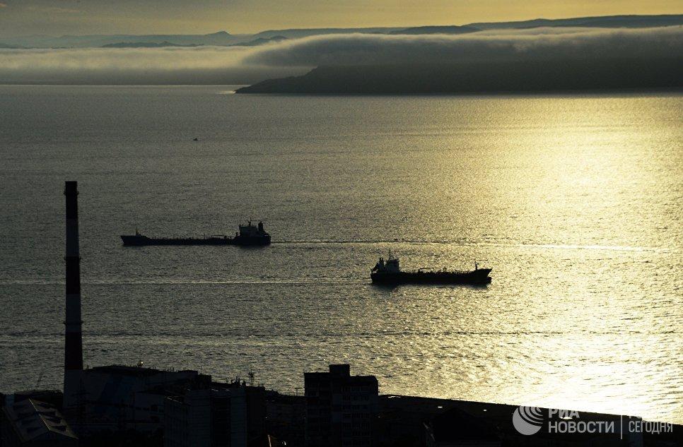 Вид с сопки Орлиное гнездо на Амурский залив во Владивостоке