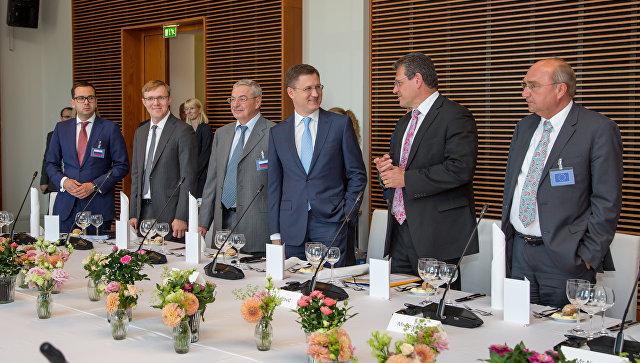 Переговоры России, Украины и Еврокомиссии по транзиту газа в Берлине