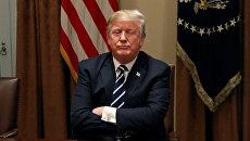 Президент США Дональд Трамп в Белом доме, Вашингтон, США. 17 июля 2018