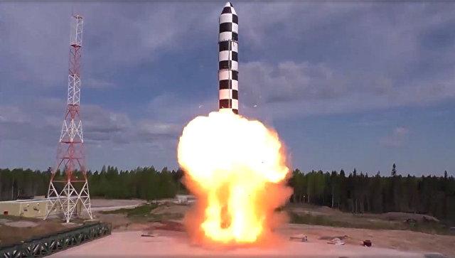 Испытания межконтинентальной баллистической ракеты Сармат. Архивное фото