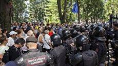 Участники акции протеста в Кишиневе. Архивное фото