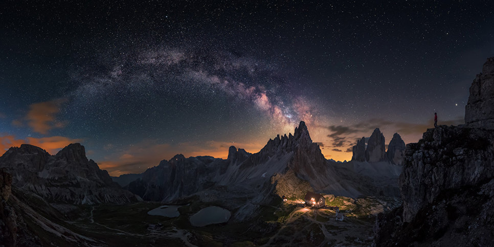 Работа фотографа Carlos F. Turienzo Guardian of Tre Cime, вошедшая в шорт-лист Insight Astronomy Photographer of the Year 2018