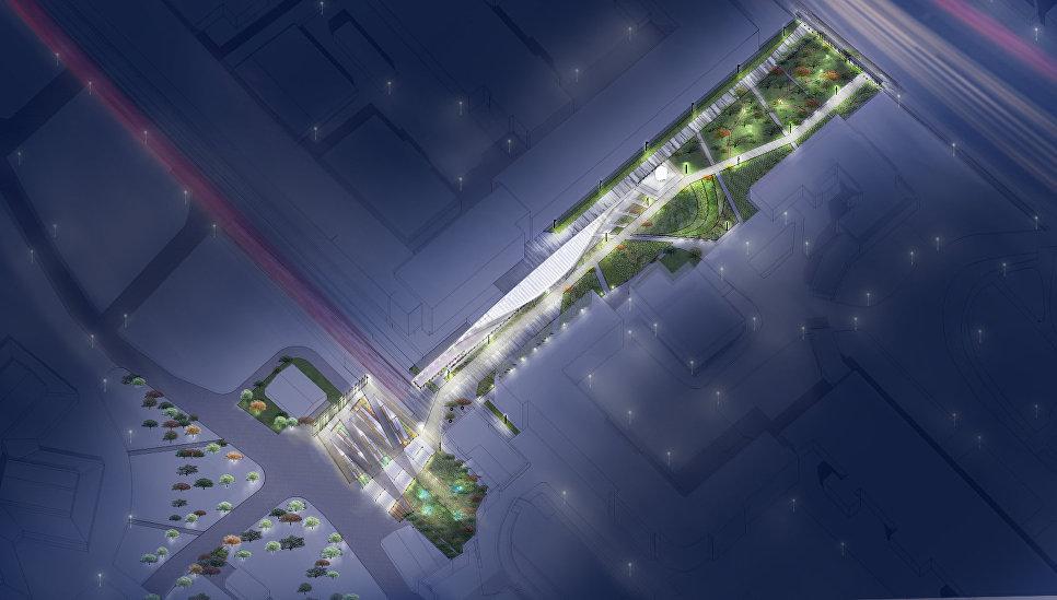 Проект нового прохода в Парк Горького