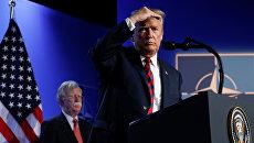 Президент США Дональд Трамп на саммите НАТО в Брюсселе. 12 июля 2018