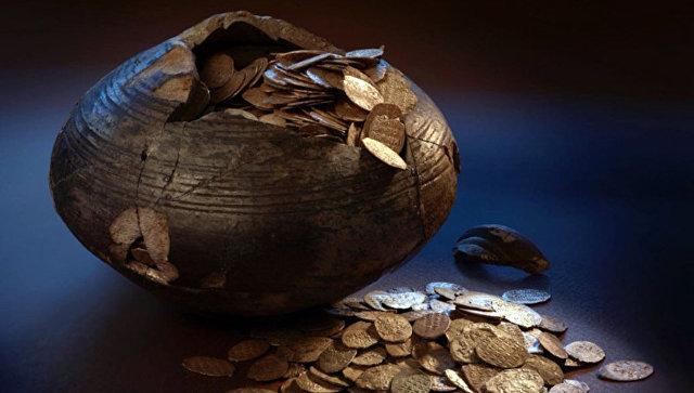 Крестьянская кубышка с монетами времен Бориса Годунова, найденная в Подмосковье