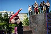 Открытие площадки по паркуру и воркауту в Новосибирске