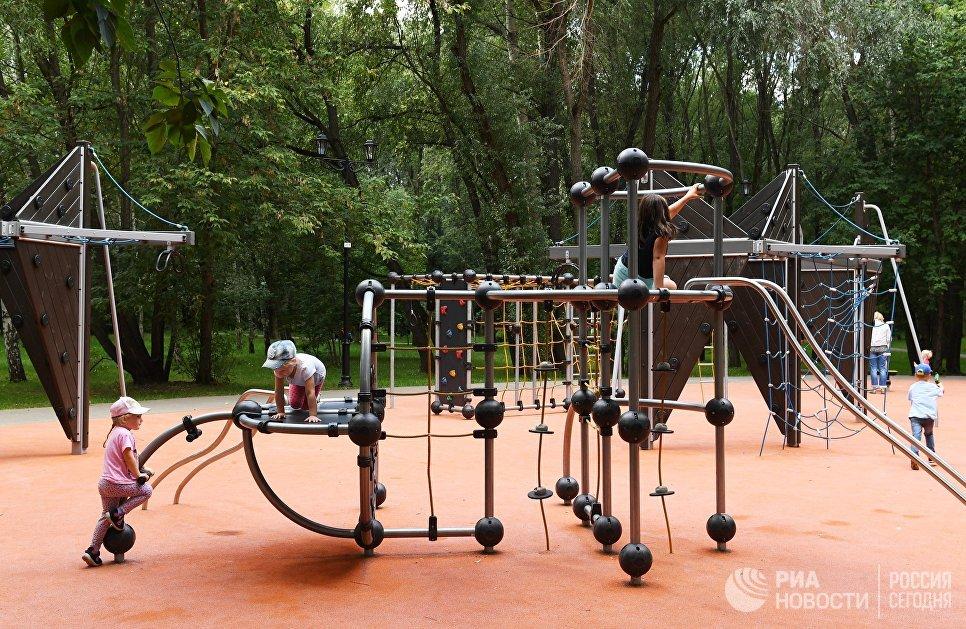 Детская площадка в Грачевском парке