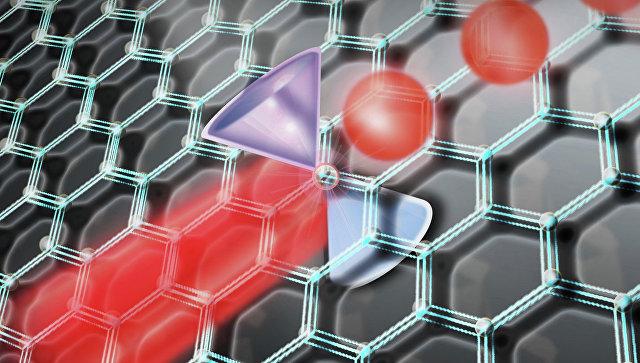 Пленка графена и фотонный кристалл из кремния преобразуют свет инфракрасного лазера. Рисунок художника