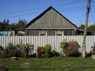 Дом с селе Миловое, расположенном на границе России и Украины