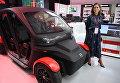 Электрический автомобиль на презентации новых разработок концерна Калашников в рамках IV Международного военно-технического форума Армия-2018 в КВЦ Патриот