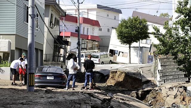 Последствия землетрясения на Хоккайдо, Япония. 6 сентября 2018
