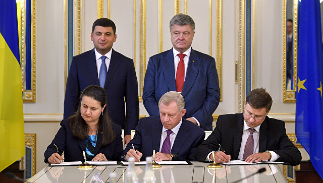 Подписание Украиной и Евросоюзом четвертой программы макрофинансовой помощи стране в размере 1 миллиарда евро. 14 сентября 2018