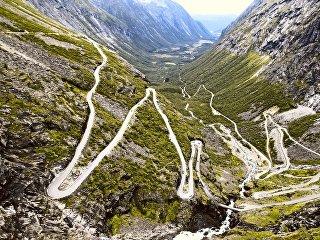 Дорога Лестница троллей в Норвегии