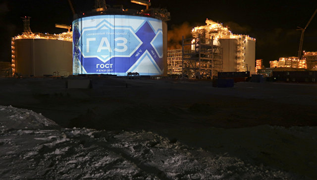 Хранилище сжиженного природного газа на Ямале