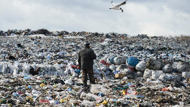 Полигон твёрдых бытовых отходов.