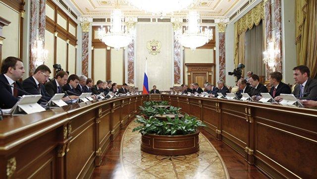 Председатель правительства РФ Дмитрий Медведев проводит совещание с членами кабинета министров РФ. 11 октября 2018