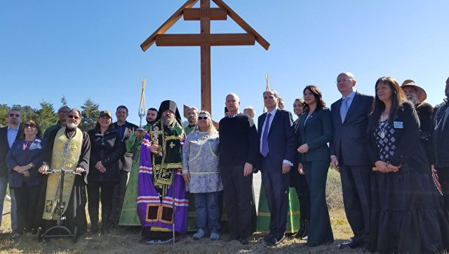 В Калифорнии на православном кладбище открыли Поклонный крест