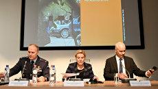 Министр обороны Нидерландов Анк Бейлевелд во время пресс-конференции, посвященной российскому вмешательству. 4 октября 2018
