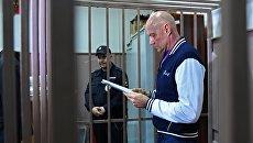 Бывший вице-премьер Крыма Виталий Нахлупин в Басманном суде Москвы. 18 октября 2018