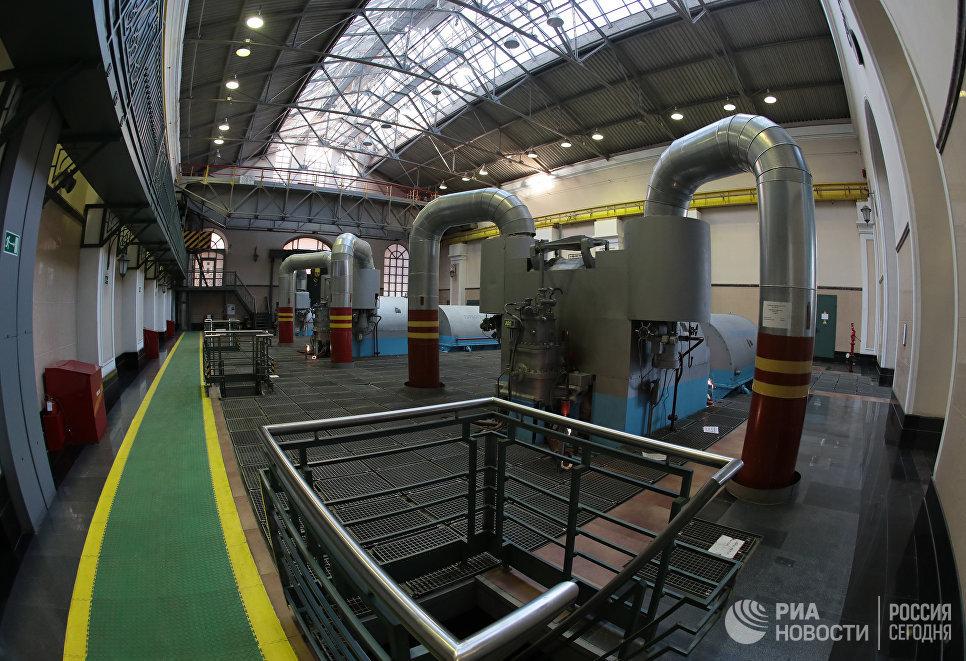 Машинное отделение ГЭС-1