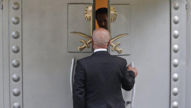 На территории консульства Саудовской Аравии в Стамбуле, Турция. 19 октября 2018