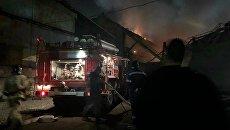 Пожар на заводе Электроцинк во Владикавказе