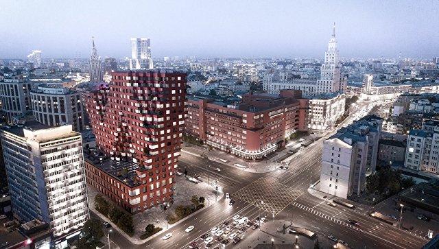 Проект комплекса апартаментов на пересечении Садового кольца и проспекта Академика Сахарова в Москве