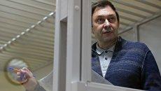 Руководитель портала РИА Новости Украина Кирилл Вышинский на заседании в Херсонском апелляционном суде. Архивное фото