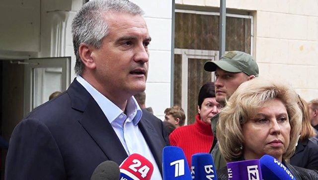 """""""Критическая точка"""" в состоянии пострадавших в Керчи прошла, заявил Аксенов"""