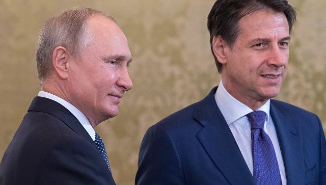 Путин рассчитывает на дальнейший рост товарооборота между Россией и Италией