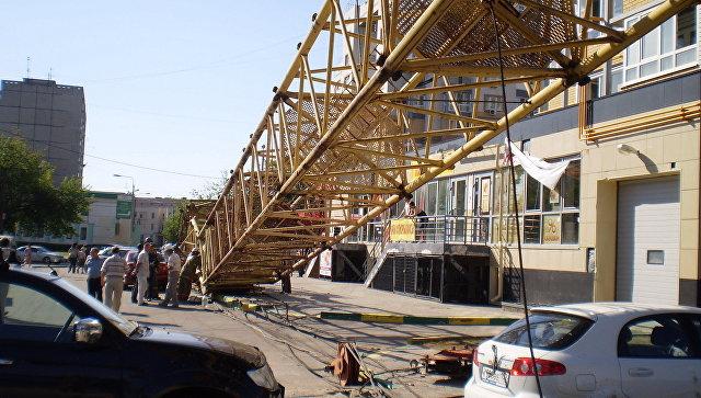 Падение крана в Нижнем Новгороде