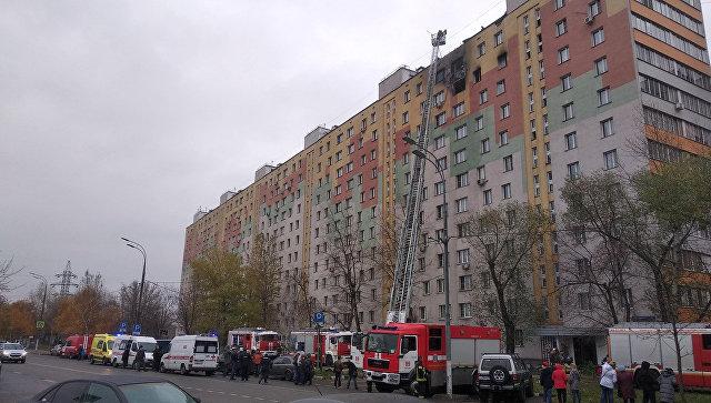 В Москве при пожаре в многоэтажке пострадали пять человек