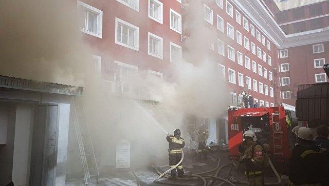 В одном из ресторанов Ставрополя вспыхнул пожар