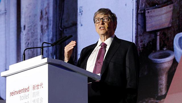 Основатель Microsoft Билл Гейтс выступает на всемирной выставке инновационных туалетов в Пекине, Китай. 6 ноября 2018