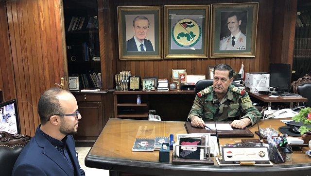 Глава политуправления сирийской армии Хасан Ахмад Хасан