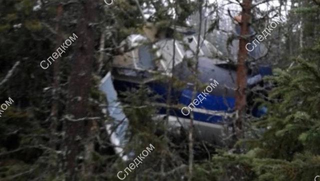 Место вынужденной посадки самолета Ан-2 в Архангельской области. 8 ноября 2018