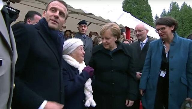 На мероприятии во Франции Меркель перепутали с супругой Макрона