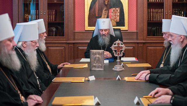 Заседание Священного Синода Украинской православной церкви в Киеве, Украина. 13 ноября 2018