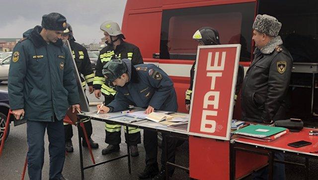 Во Владикавказе потушили пожар на рынке автотоваров
