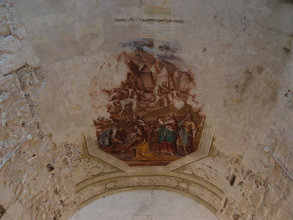 Одна из фресок Георгиевского собора