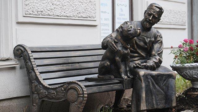 """В Петербурге открыли памятник героям фильма """"Собачье сердце"""""""