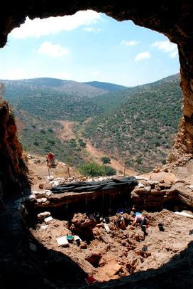 Пещера, где израильские археологи нашли могилу шамана