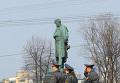 Конная милиция на Пушкинской площади