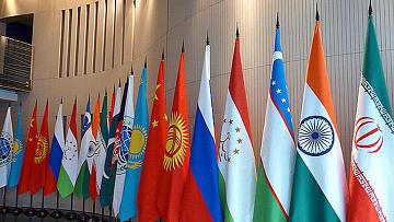 Флаги стран участников ШОС. Архивное фото.