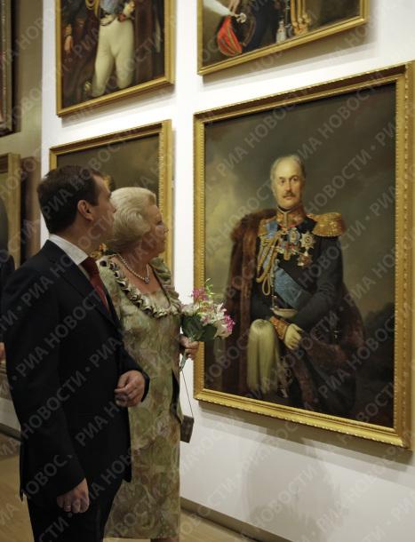 Президент РФ Д.Медведев и королева Нидерландов Беатрикс