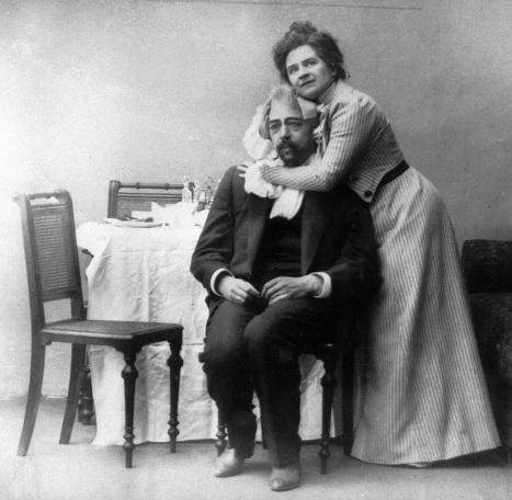 Станиславский и Книппер в пьесе Чайка