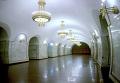 """Центральный зал станции """"Площадь Толстого""""."""